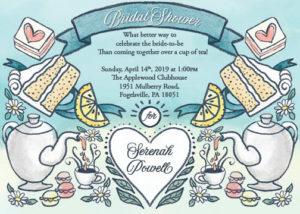 Bridal Shower Invitation Tea Party